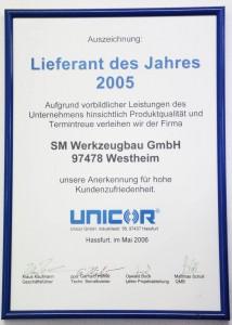 Unicor Auszeichnung