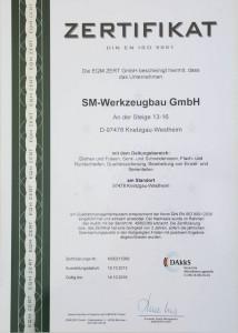 Zertifikat SM-Werkzeugbau